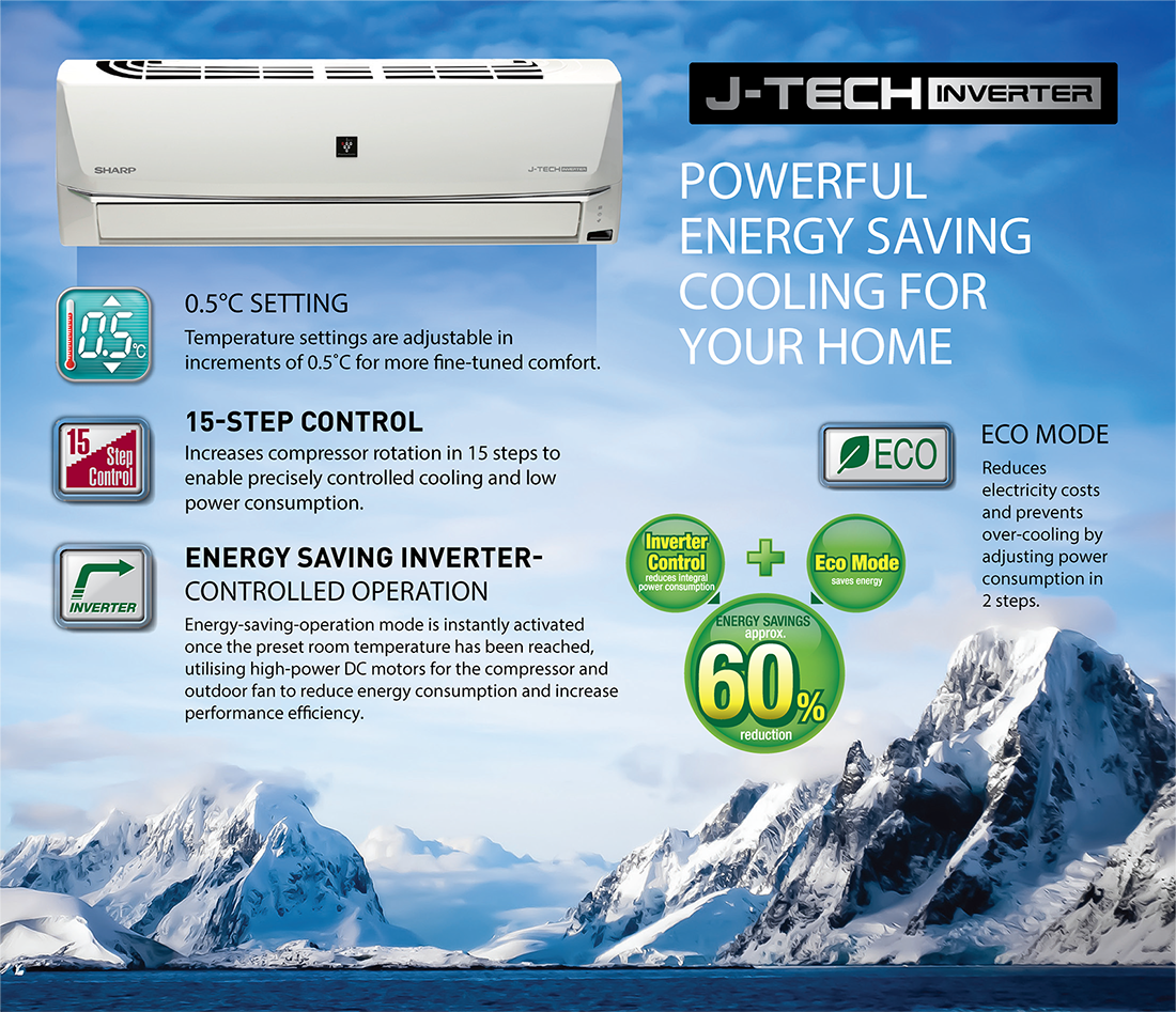 A h heating air conditioning service - Here Are Some Of The Most Amazing Features Of This Sharp 1 0 Ton J Tech Inverter Ac Ah Xp13shve