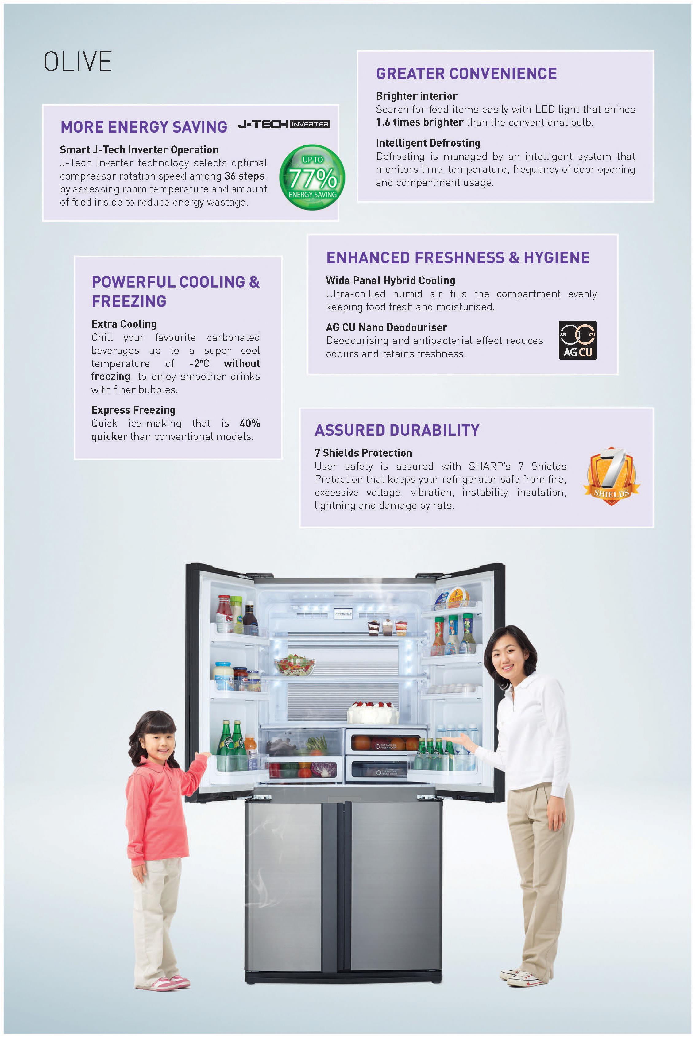 Sharp 4-Door Refrigerator SJ-VX79E-SL