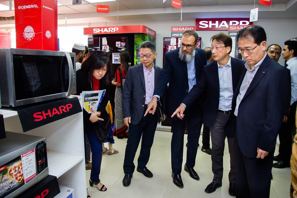 Sharp Officials visit Sharp Premier Pavilion - 10 by Esquire Electronics Ltd at Dhaka International Trade Fair