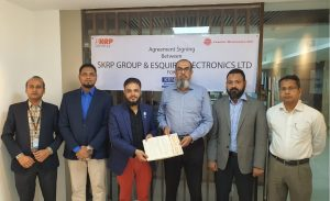 Agreement Signing Ceremony between Esquire Electronics Limited and SKRP Group.